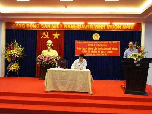 Hội nghị Ban Chấp hành Công đoàn Công nghiệp tàu thuỷ Việt Nam